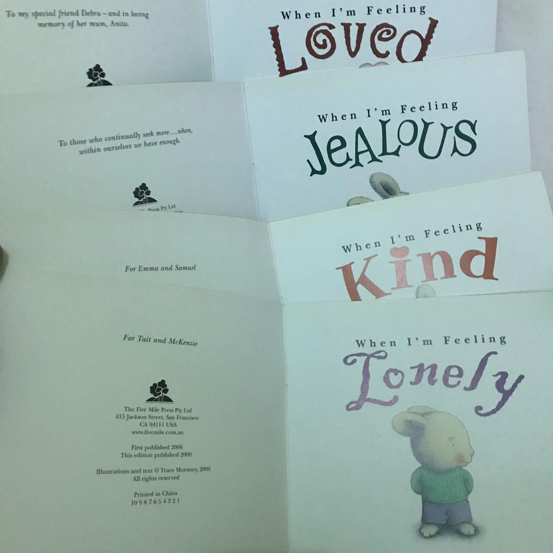 When Im Feeling Set of 4 - Lonely Kind Jealous Loved