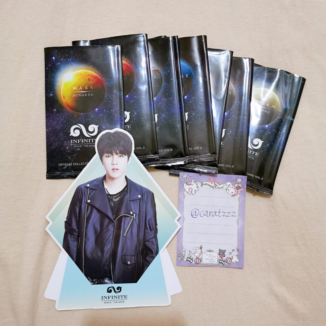 Infinite official collection card vol.2 with seongyeol standee