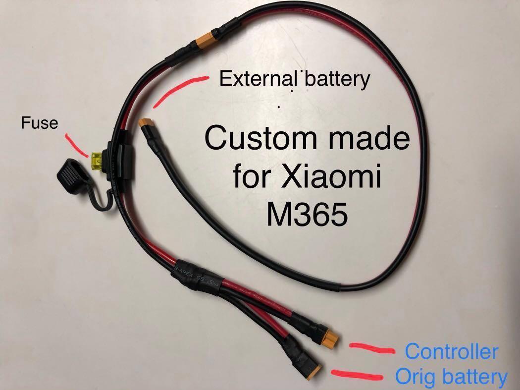 Xiaomi M365 external battery w/waterproof bag install