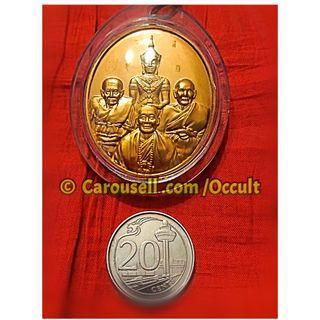 瑪哈皇者澤格啪 , 龍達瑪, 龍普托, 恩師龍普督{龍普魯} 自身像佛牌  🌟⭐🌟⭐🌟 100%正宗正品正版泰國佛牌聖物 💎