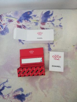 Chanel Lipstick Case and Rouge Coco Flash sample card set