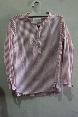 #maudandan Corniche stripe blouse pink