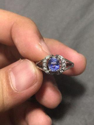 🚚 1.039 Carats Ceylon Sapphire Ring in Sterling Silver