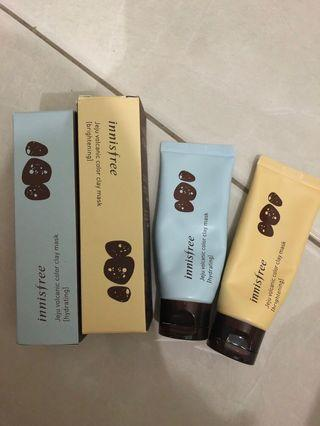 Innisfree Clay Mask two pcs