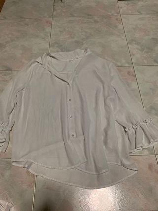 🚚 Sfera basic white linen top