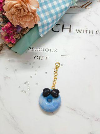 夢幻渲染藍色 鑰匙圈 書包掛飾 吊飾 鉛筆盒 閨蜜 情侶 質感