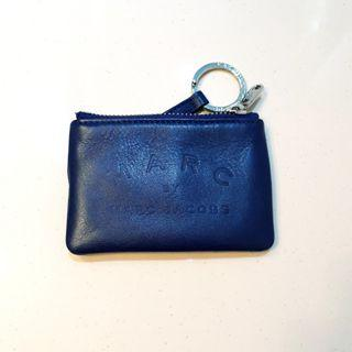 Marc Jacobs Coin Pouch with Key Chain Blue #MRTPasirRis