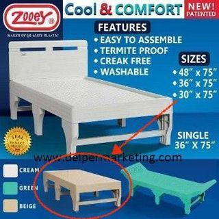 Zooey Plastic Bed (RUSH & NEGOTIABLE!)
