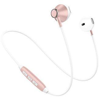 🚚 (E2467) Wireless Headphones, Lightweight Sport Earphone, HiFi Stereo Magnetic Earbuds Bluetooth Headphones, Tangle Free, HD Buit-in Mic, Support 2 Devices, Sweatproof, for Jogging, Running, Gym (Rose Gold)