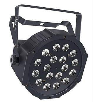 🚚 (E2493) LaluceNatz Par Lights with RGB 18LEDs Wash Lighting by Remote and DMX Control for Wedding Church Stage Lighting