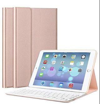 (E2494) iPad Keyboard Case 9.7, Upworld Wireless Bluetooth Keyboard Cover Case for iPad 9.7 2018 | 2017 | iPad Air 2 | iPad Air, Ultra-thin Magnetically Detachable Removable Wireless Keyboard for iPad