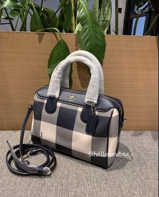 Tas coach original - coach mini bennet plaid midnight