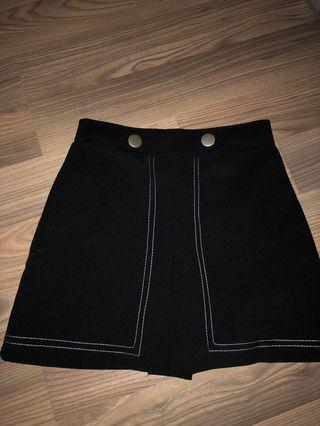 Ulzzang Black Skirt