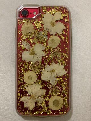 Iphone 7 gold flower case