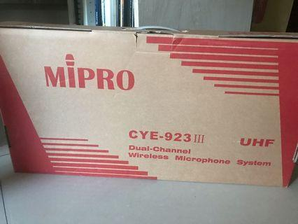 MIPRO嘉強旗艦無線麥克風組(CYE-923III)
