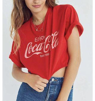 Urban Outfitters cropped Coca Cola t shirt