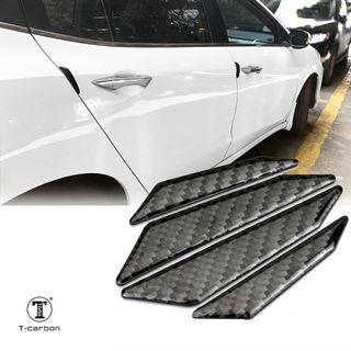 Genuine Carbon Fibre Car Door Protection Strips Guard Anti-collision Waterproof Rubber Strip Auto Car Door Side Edge Protector