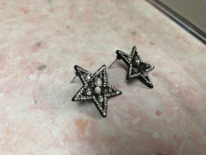星星水晶耳環