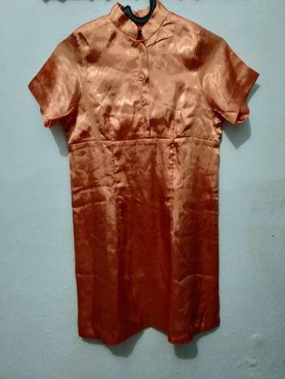 Dress kerah jepang