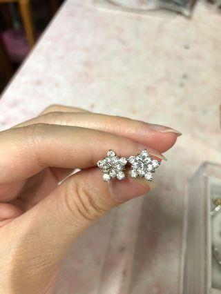 水晶雪花耳環