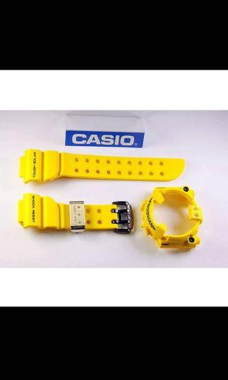 100% Authentic new Casio G-Shock 30th Anniversary lighting yellow Frogman GF-8230E-9 Band and Bezel with Studs set limited edition