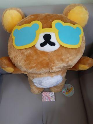 鬆弛熊❤超級大版,55cm❤黑超,太陽眼鏡,100%全新,日本直送。