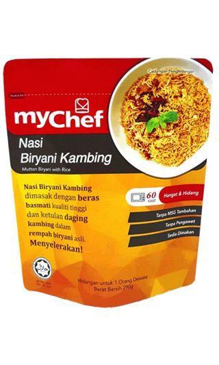 Mychef Nasi Briyani Ayam/Kambing #JuneToGo