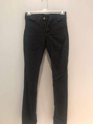 american apparel black straight leg jeans size 23
