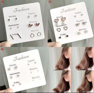 Korean silver earrings