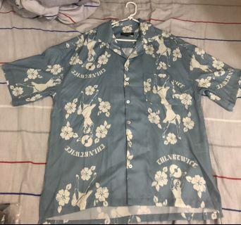 Supertofu 復古夏威夷恤衫藍白花紋Vintage Aloha Shirt