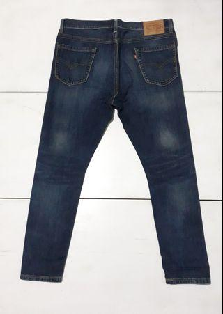 LEVI'S 522 slim taper limited edition double stich like new