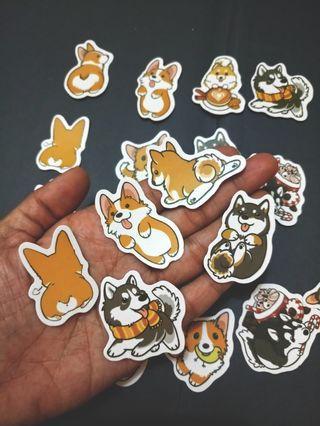 Kawaii cute Corgi dog stickers journal scrapbooking Deco
