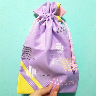 Lilac Purple Drawstring Pouch