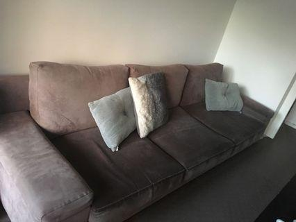 3 Seat Suede Couch