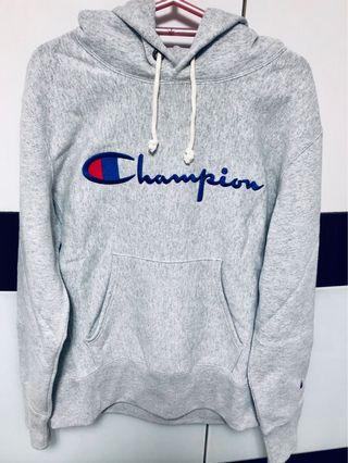 Authentic Champion Reverse Weave Hoodie (Embroidered logo)