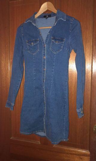 Missguided Denim Dress