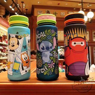 香港迪士尼代購水壺水杯史迪仔米奇大白便攜磨砂卡通DISNEY隨手杯