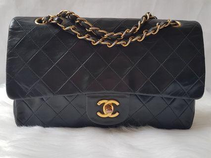 Authentic Chanel classic vintage medium black bag