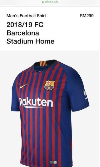 FC Barcelona stadium home jersey authentic size m #mgag101