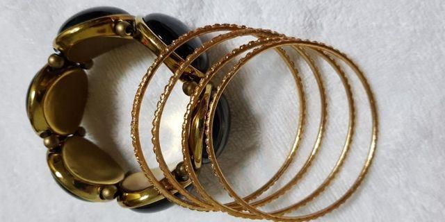 銅製崁亮鑽手環(四環)