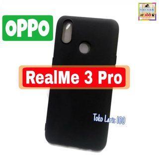Softcase Black Matte Oppo RealMe 3 Pro - Slim Matte Black