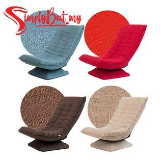 SIMPLYBEST Foldable 360 Degree Rotation Fabric Leisure Lazy Sofa Moon Chair