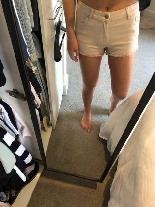 Pale pink seed shorts