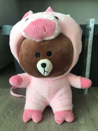 Line Friends - Piggy Brown BackPack