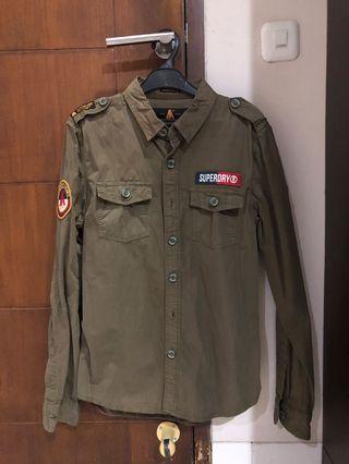 Superdy army shirt original size large