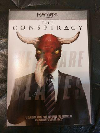 The Conspiracy dvd(2012)  Anonymous A documentary about conspiracy theories takes a horrific turn after the filmmakers uncover an ancient and dangerous secret society.  https://www.imdb.com/title/tt2330322/plotsummary?item=po1563759