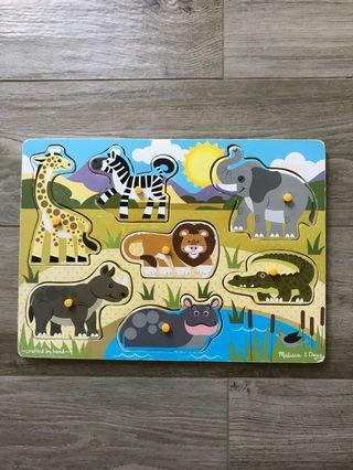 Melissa & Doug Safari Wooden Puzzle