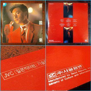 首張韓版專輯!張國榮《張國榮》 1989年華星黑膠唱片首版LP,全碟韓國製造,超級稀有,極具珍藏價值!(曲目跟香港版的《愛火》專輯完全不同)
