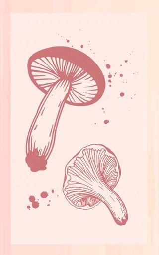 Mushroom wooden stamp