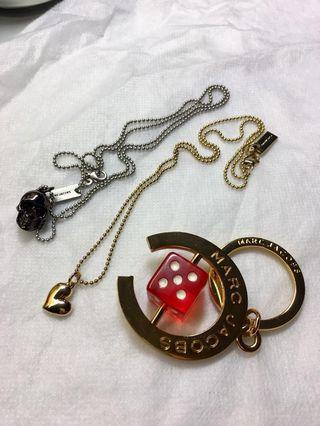 Marc Jacobs Necklace & Keychain 頸鏈鎖匙扣